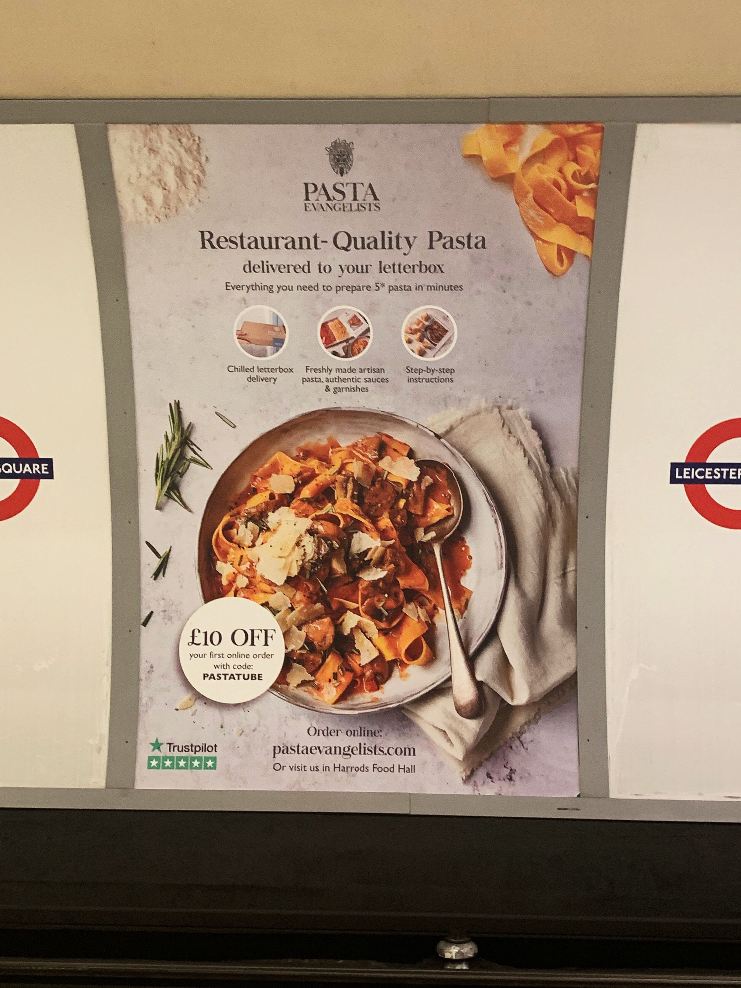 Tim's image on the at Leicester Square underground station!