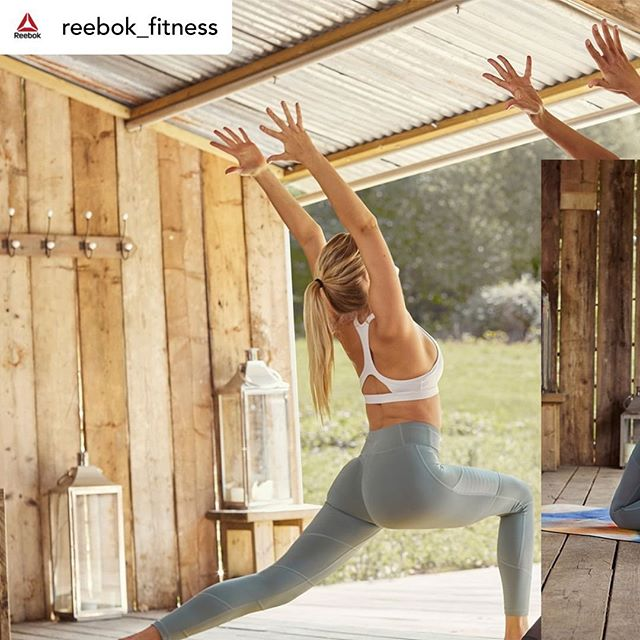 What You Tell Yourself Every Day Will Either Lift You Up Or Tear You Down💭 . Repost • @reebok_fitness Namaste #reebok #fitness #yoga #namaste #summer #workouts