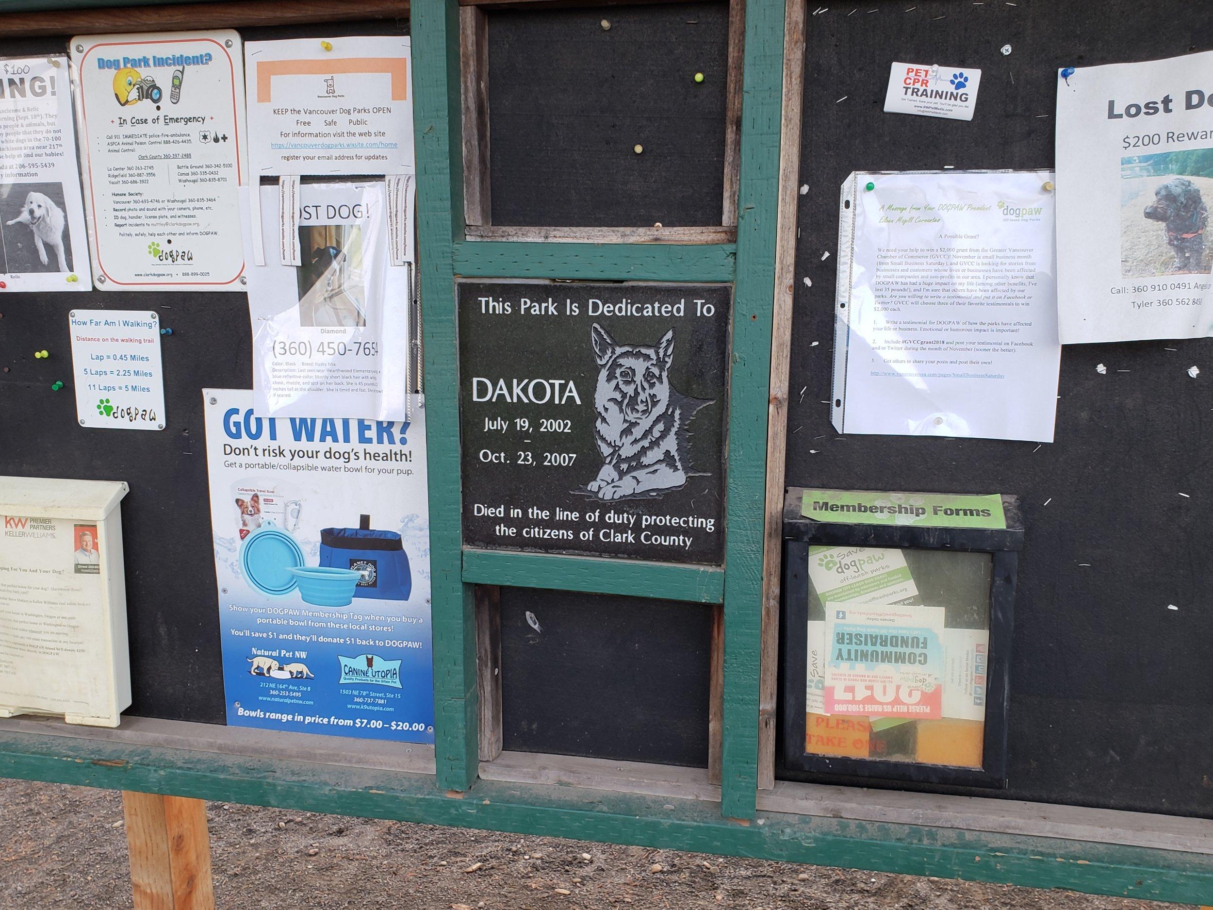 Dakota Dog Park Bulletin Board.jpg