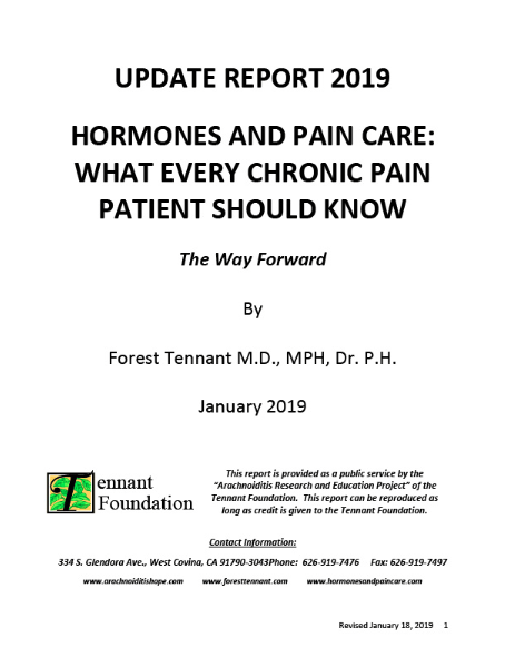 update_report_2019_hormones_and_pain_care_what_every_chronic_pain_patient_should_know_central_pain_syndrome_foundation_cpsf_bulletin