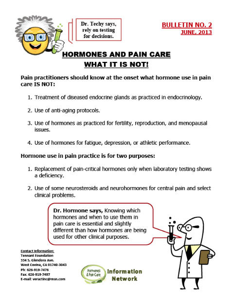 Bulletin 2: Hormones And Pain Care - What It Is Not