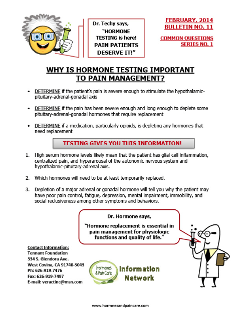 Bulletin 11: Why Is Hormone Testing Important To Pain Management?
