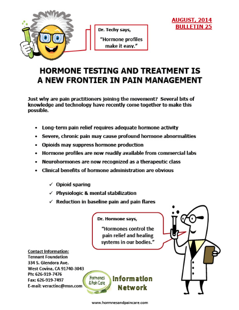 Bulletin 25: Hormone Testing And Treatment Is A New Frontier In Pain Management