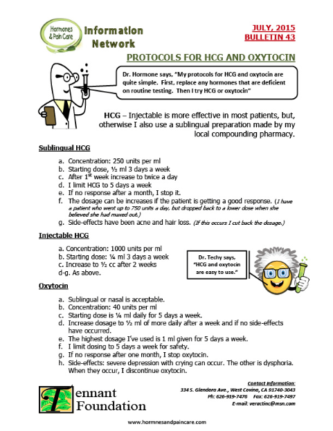 Bulletin 43: Protocols For HCG And Oxytocin