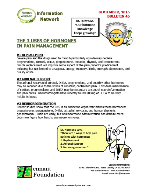 Bulletin 46: The 3 Uses Of Hormones In Pain Management