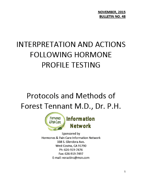 Bulletin 48: Interpretations And Actions Following Hormone Profile Testing