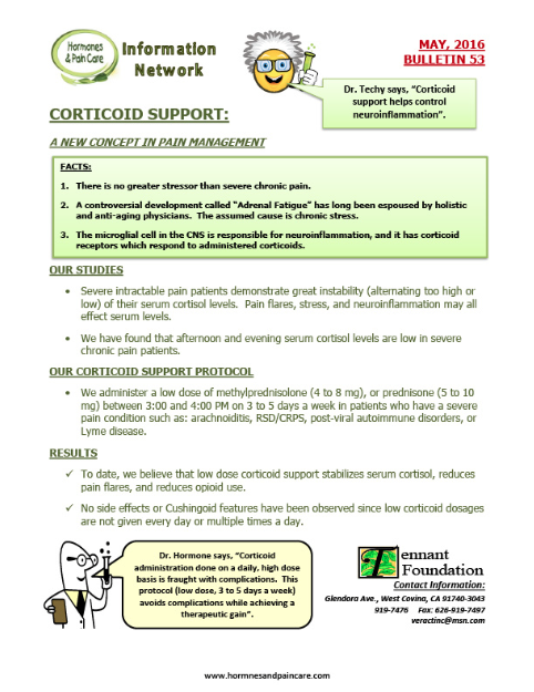 Bulletin 53: Corticoid Support - A New Concept In pain Management