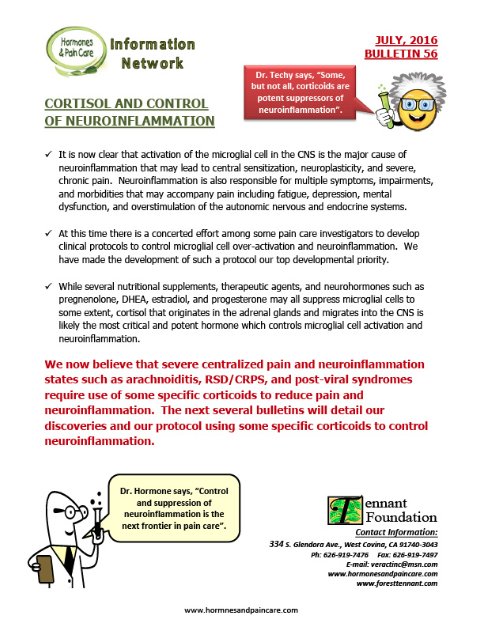 Bulletin 56: Cortisol And Control Of Neuroinflammation