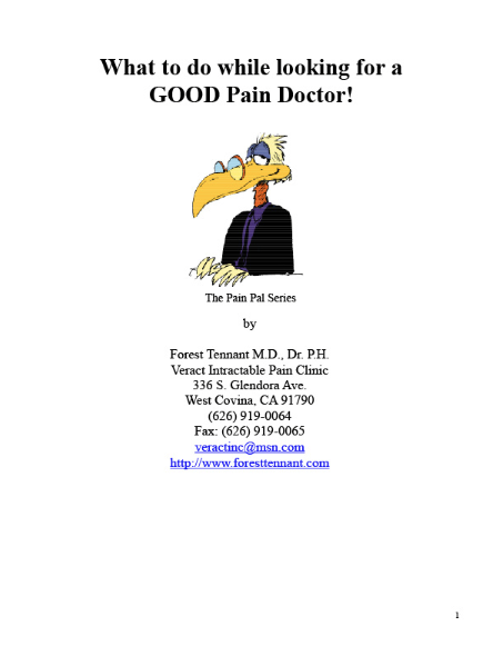 What To Do While Looking For A Good Pain Doctor