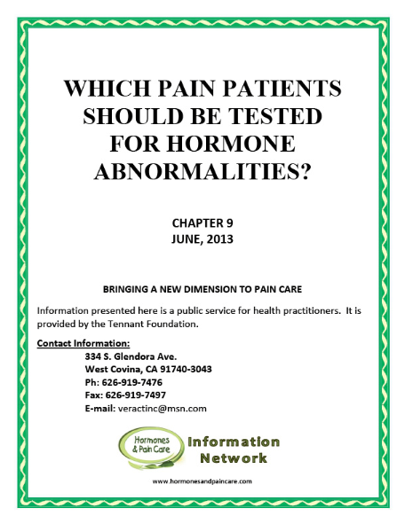 Chapter 9: Which Pain Patients Should Be Tested For Hormone Abnormalities?