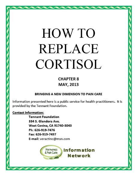 Chapter 8: How To Replace Cortisol