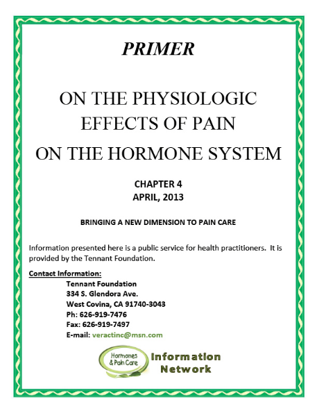 Chapter 4: On The Physiologic Effects Of Pain On The Hormone System