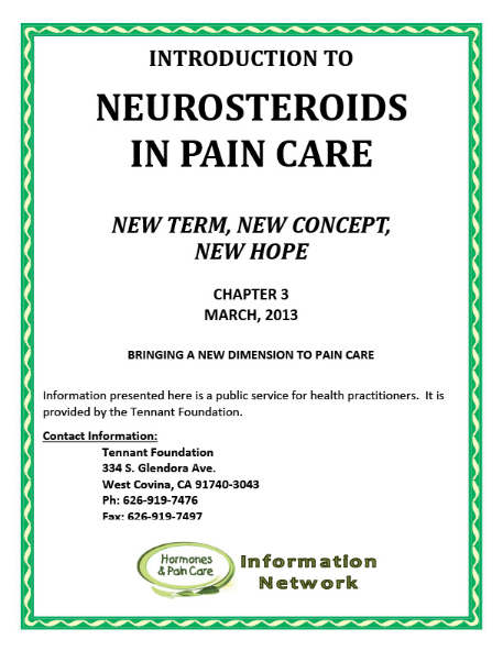 Chapter 3: Neurosteroids In Pain Care