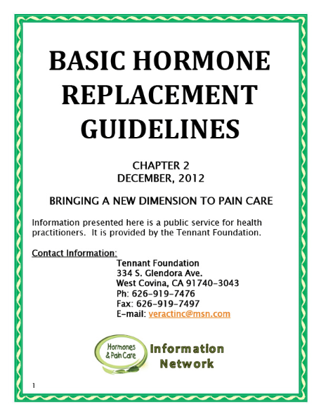 Chapter 2: Basic Hormone Replacement Guidelines