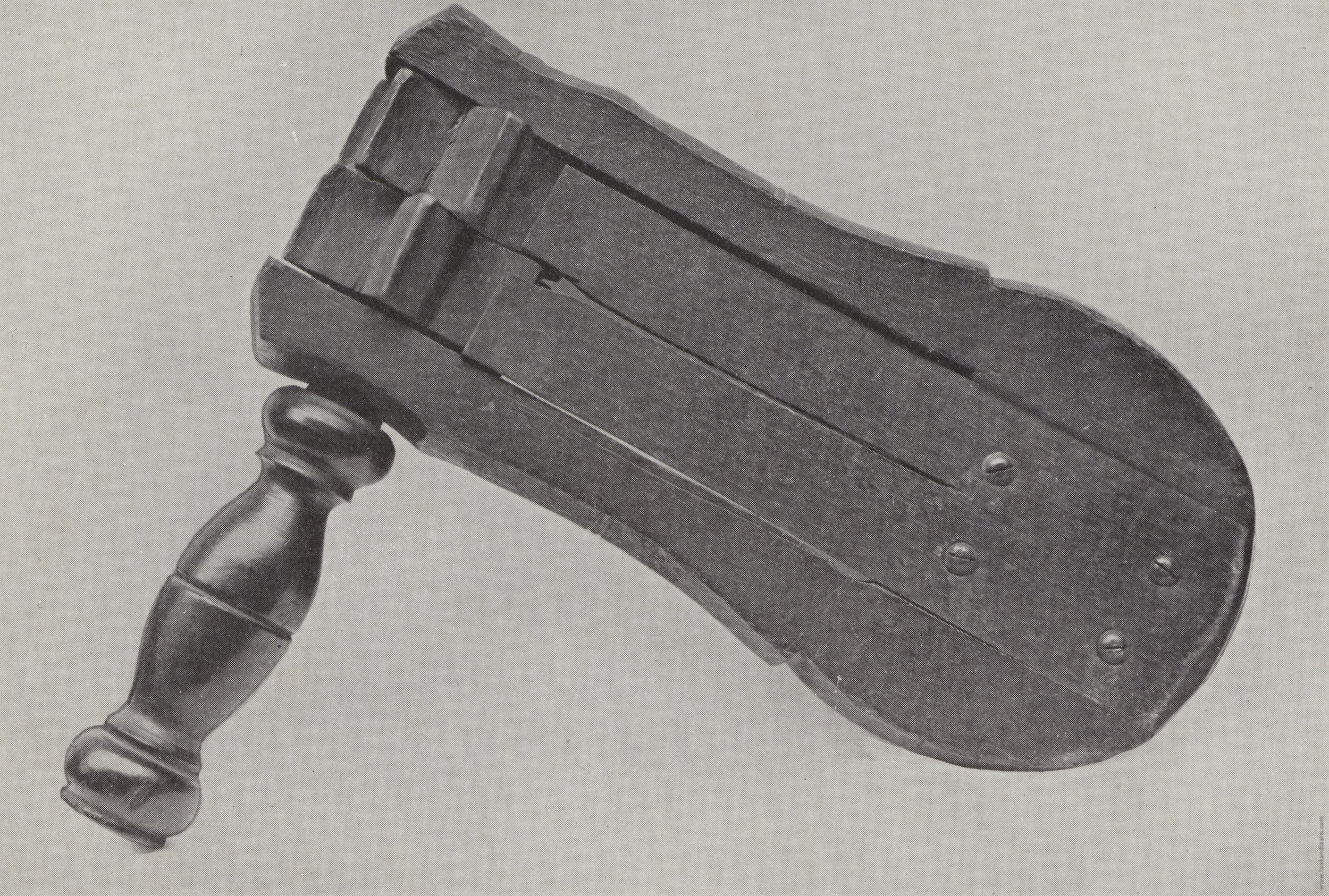 The old Police Rattle, used by the Watchmen. Illustrated for  The Police Encyclopaedia  by Hargrave L. Adam (Blackfriars Publishing, c 1912)