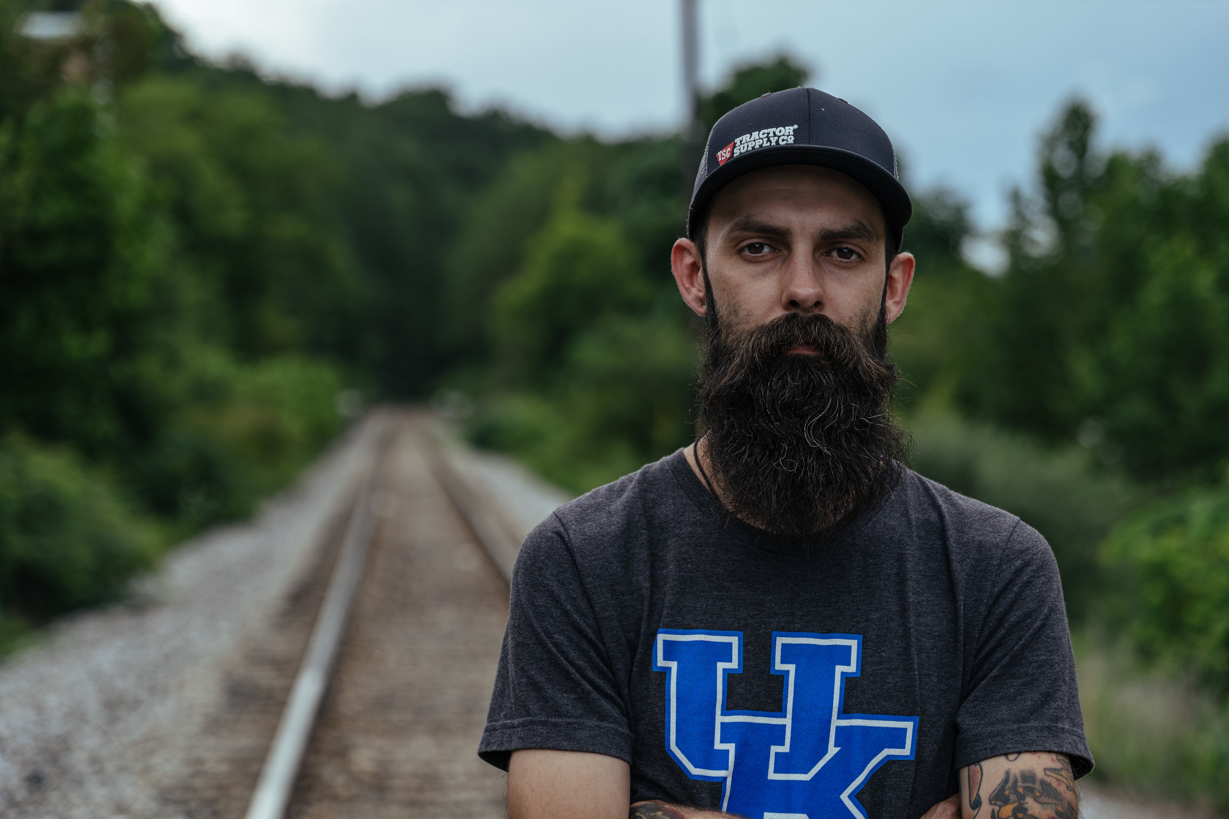 """The Striking Kentucky Coal Miners Who Stood Up and Stopped a Train - I recently did a photo series for """"100 Days in Appalachia"""" on the coal miners who are waiting for wages they've already earned by blocking a train loaded with coal."""