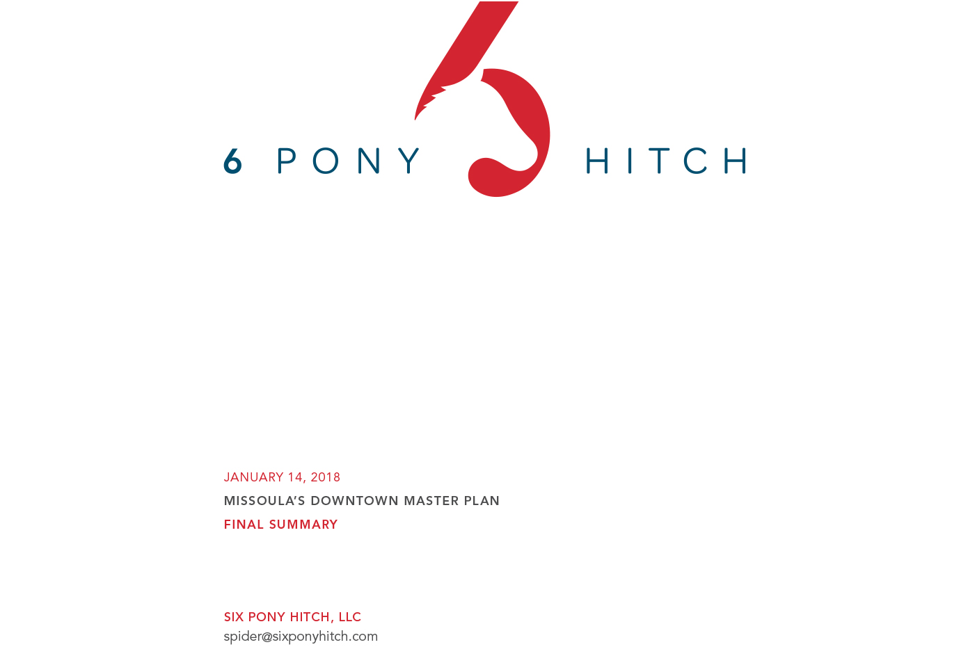 fornt page of 6 Pony Hitch Initial Inclusive Engagement Report