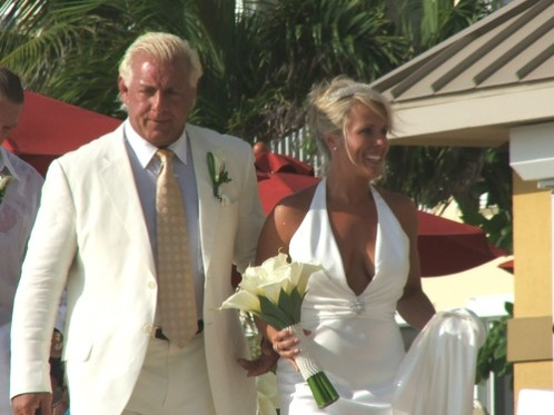 Tiffany and Ric Flair at their wedding.