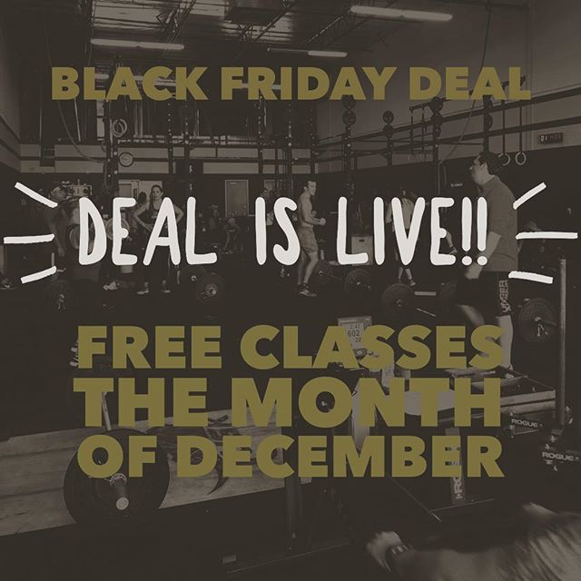 FREE CLASSES UNTIL JANUARY 1st!! Link in bio! Limited spots available, deal ends tomorrow night. #tuskcrossfit