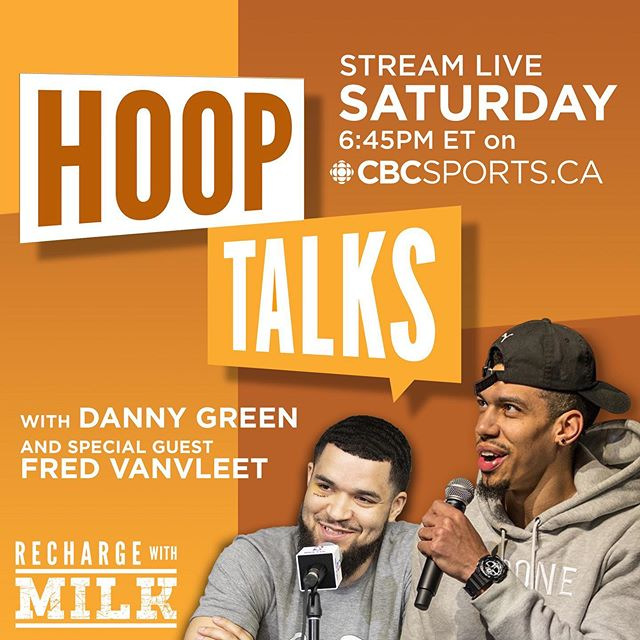 If you haven't already, make sure to get your tickets to our live show tomorrow and if you can't make it, tune in on cbcsports.ca to watch from wherever you are in Canada 🇨🇦 Joining us on stage with @greenranger14 & @hidefsanford is @fredvanvleet and Canada's favorite superfan @navbhatiasuperfan 🎙 ⠀⠀⠀⠀⠀⠀⠀⠀⠀⠀⠀⠀⠀⠀⠀⠀⠀⠀⠀⠀⠀⠀⠀⠀⠀⠀⠀ Presented by @rechargewithmilk 🥛