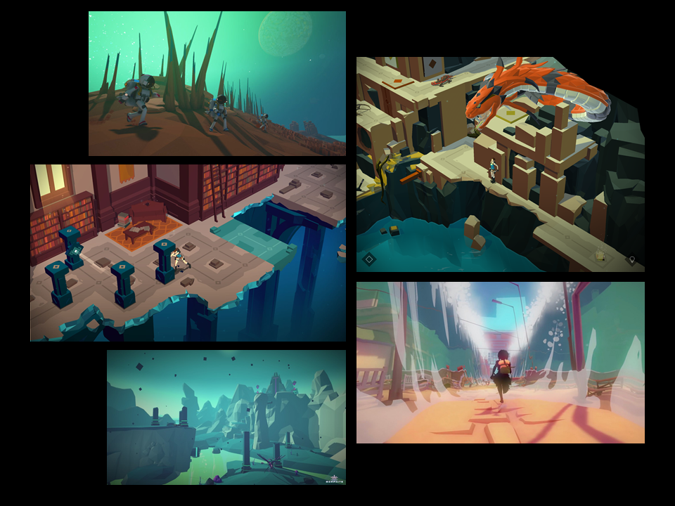 This Mood Board illustrates the type of 3D Modelling I would like to employ in Altered Conduct. The style of the models would consist of basic shapes and texture would be used to achieve vivid colors and add some detail.