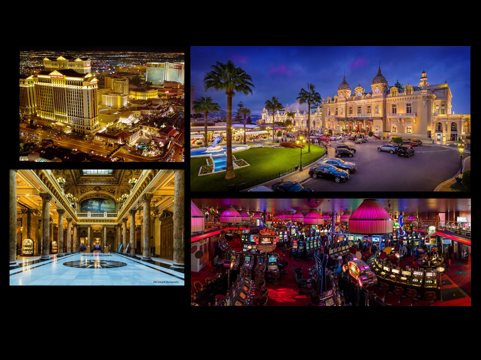 These are some examples of what the casino would like. It would be very luxurious with predominantly white and gold colors with the occasional red lighting.