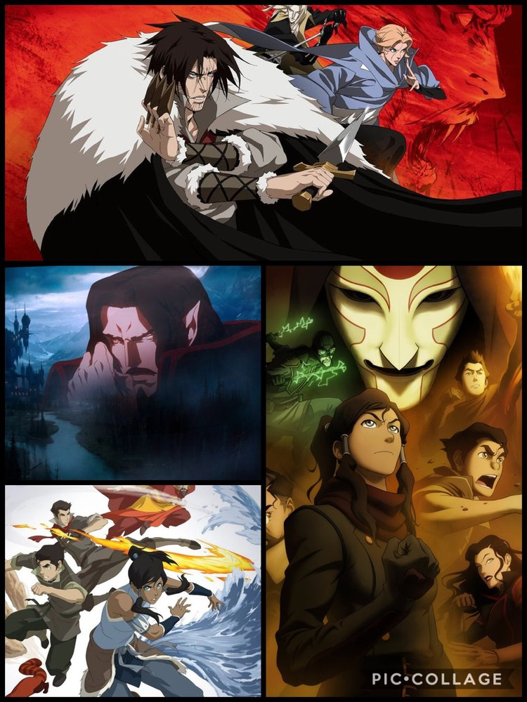 Examples of scenes from both Castlevania and Legend of Korra