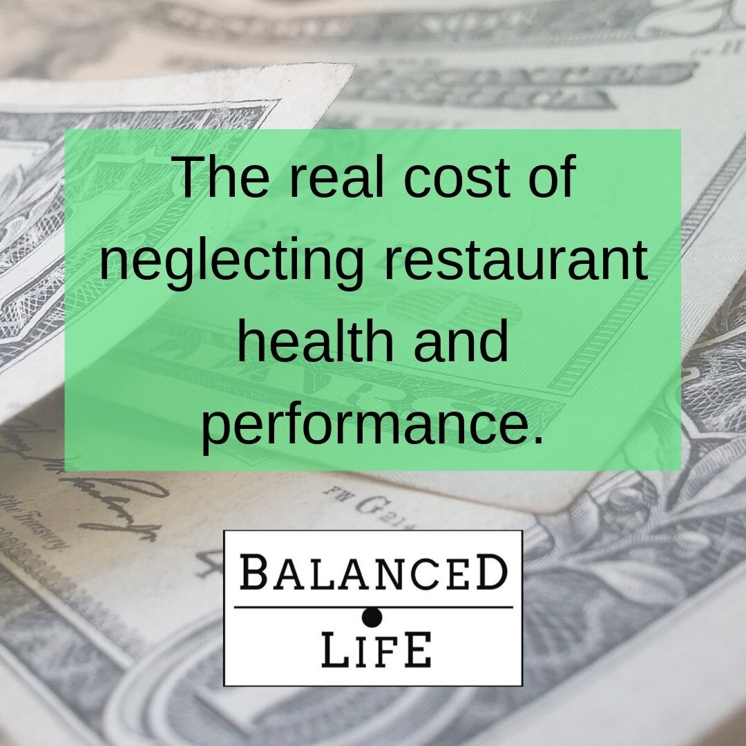 The real cost of neglecting restaurant health and performance.
