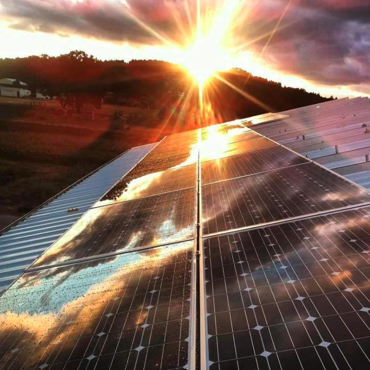 Solar at sunset