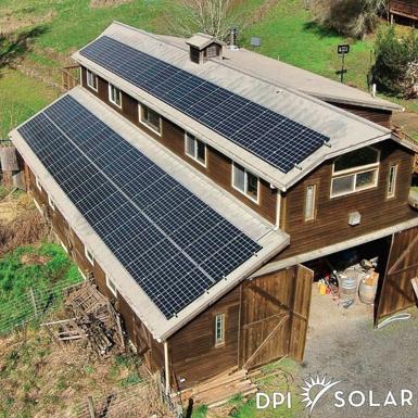Barn with solar