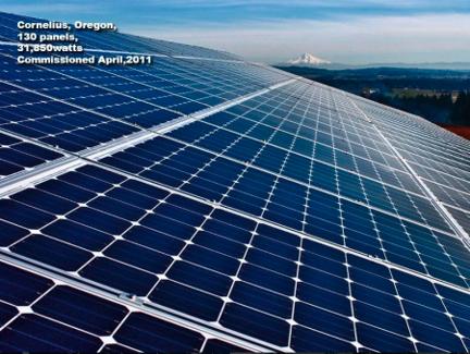 Solar panels in Cornelius