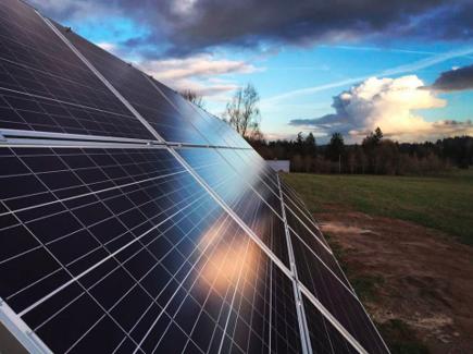 Ground-mount solar panels