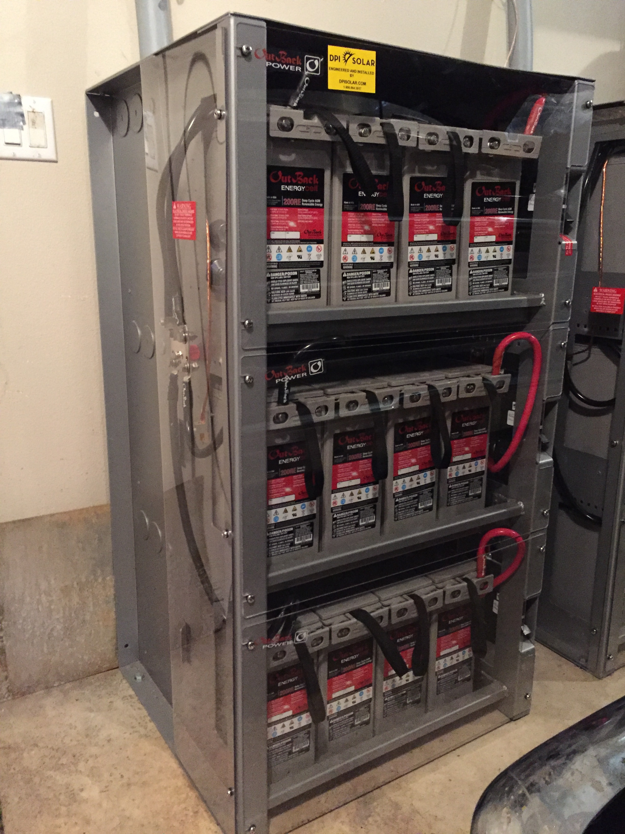 Batteries keep your home powered even when the power is out.