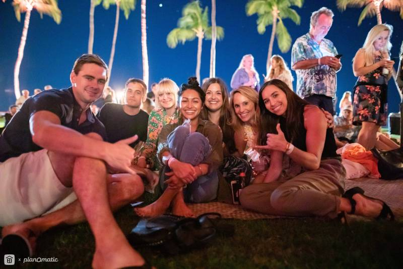 Kauai's own Jordy Fleming was joined by Eli Smart and his band (below), treating guests to an amazing performance under the Mauna Kea's swaying palms. Please click  here  for a complete photo gallery of Worthshop 8.