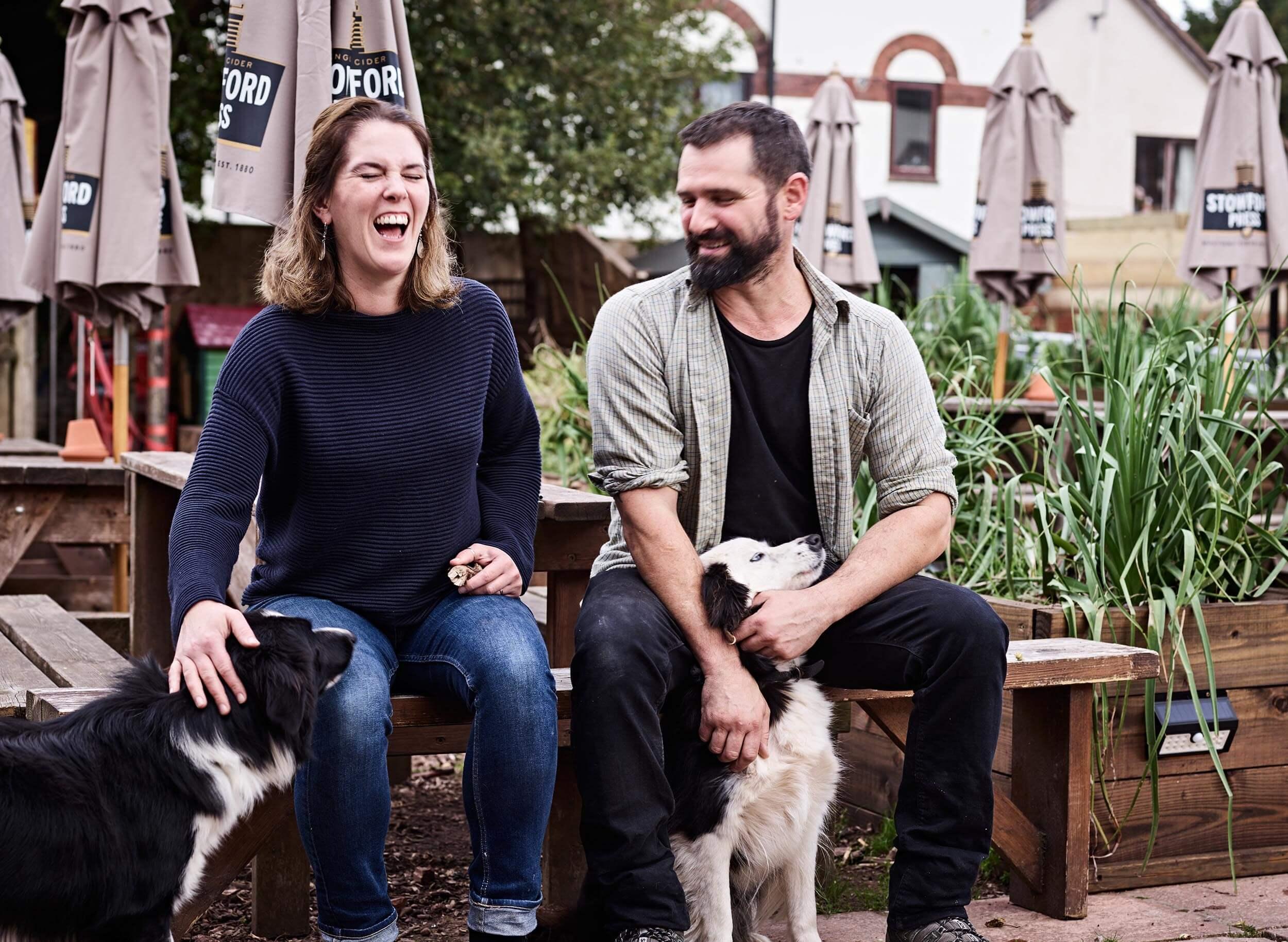 Your hosts, Millie Spurr and Jon Coward