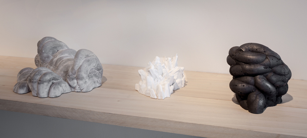 Studio Riffs  (Cloud Morphology), 2014, plaster, hydrocal, ultra-cal, polystyrene, graphite