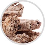 CODONOPSIS ROOT  enhances the production of blood and body fluids. It also fortifies the lungs and aides in cleansing them of pollutants. A known adaptogen, it is clinically proven to moderate our response to stress because of their anti-inflammatory, antioxidant, anxiolytic, and antidepressant qualities.