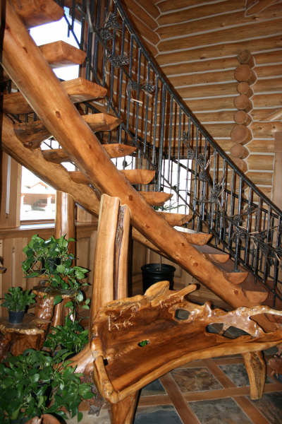 Curved Log Stair v1