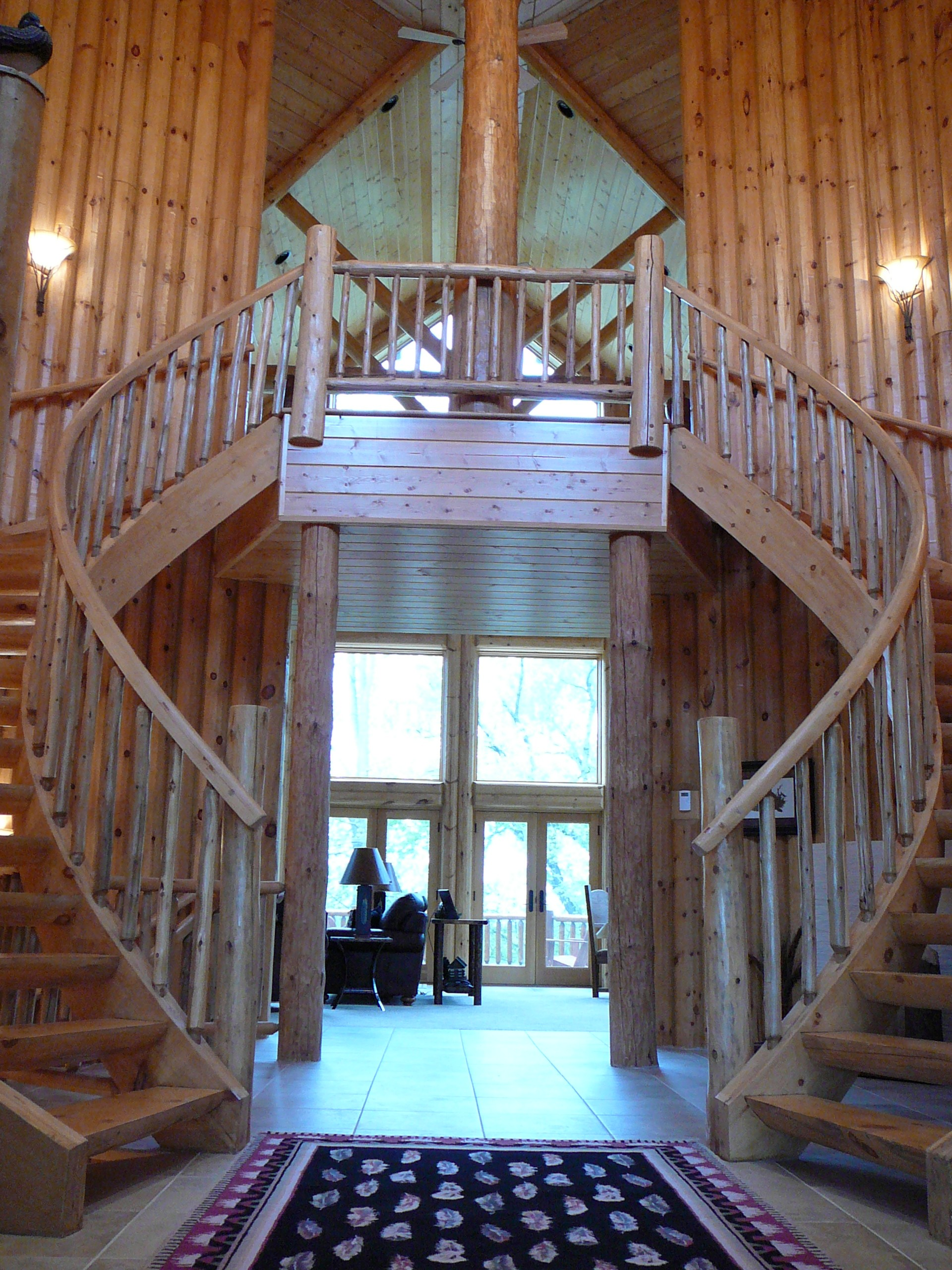 Multi Curved Log Stair