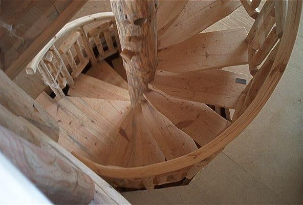 Spiral Log Stairs