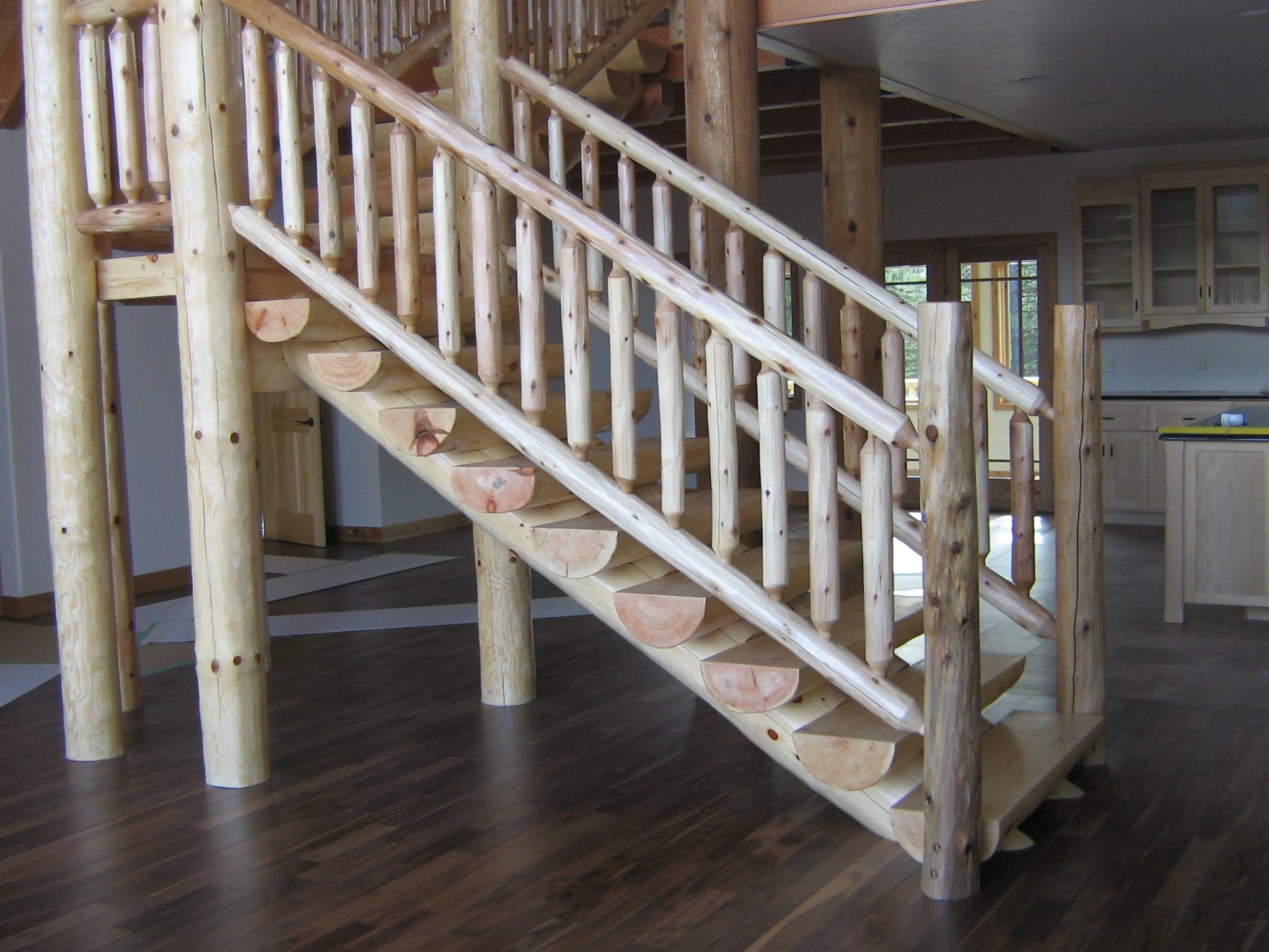 Full Scribe Log Stair v7
