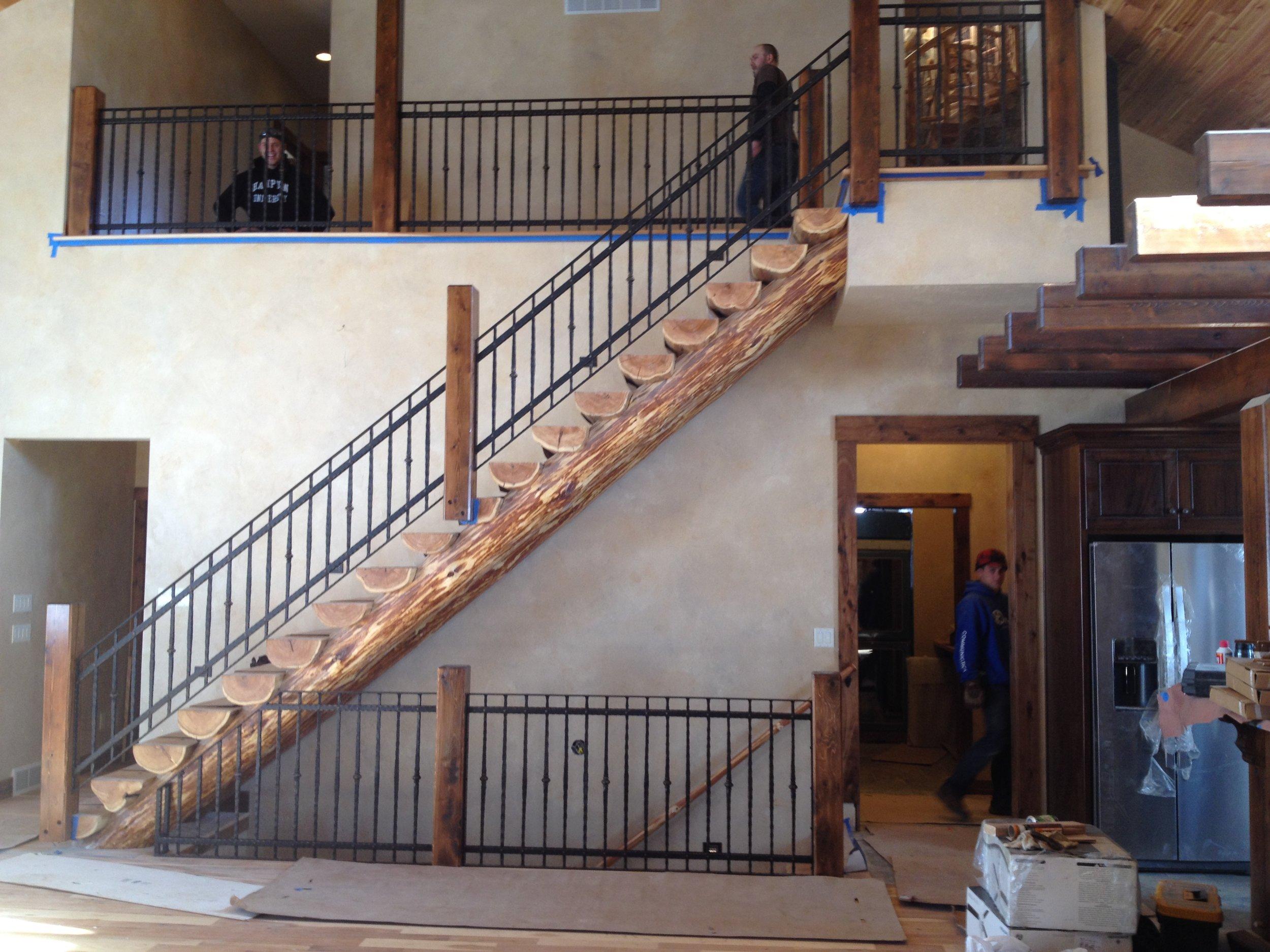Full Scribe Log Stair v4