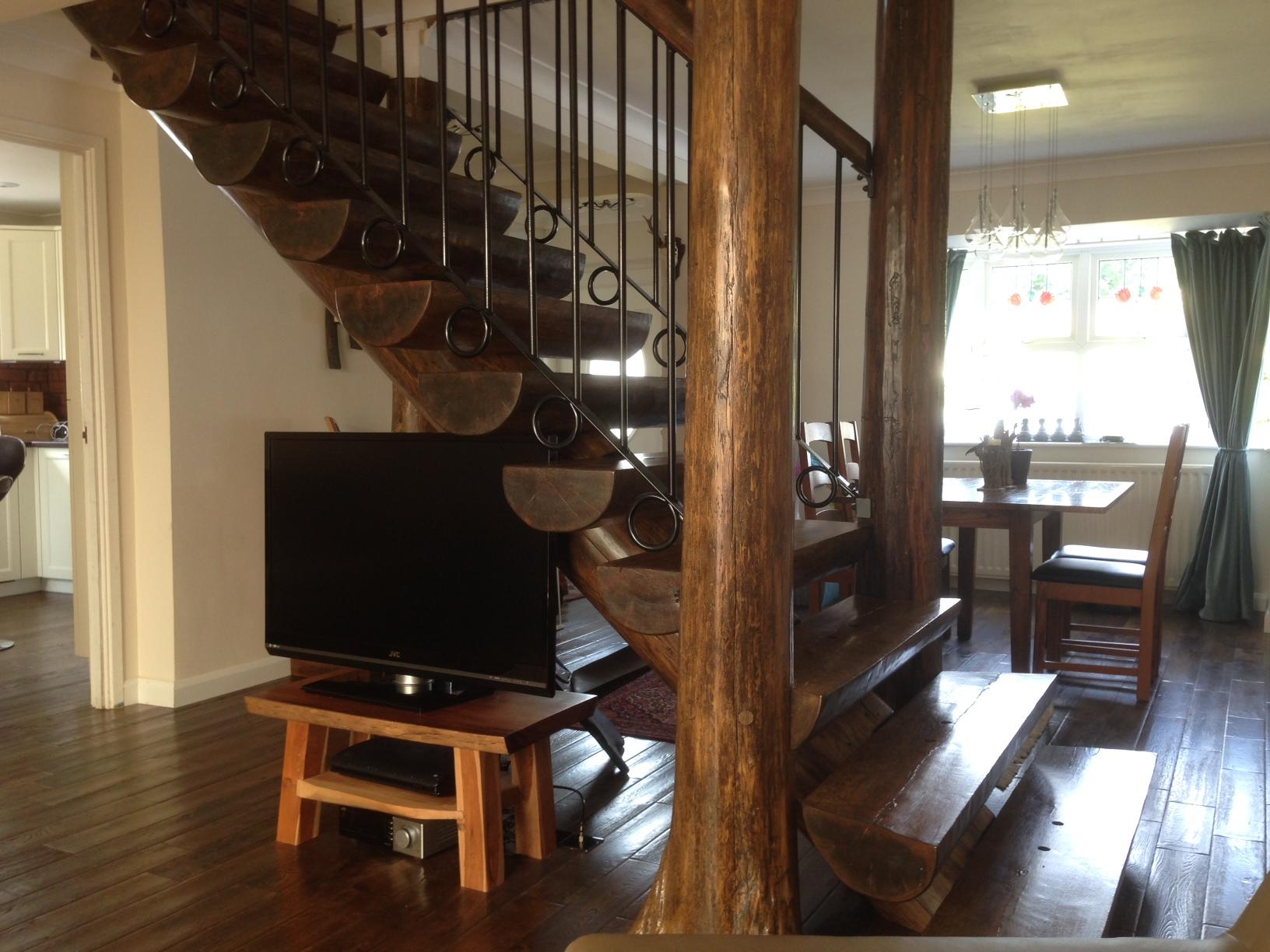 Full Scribe Log Stair v9