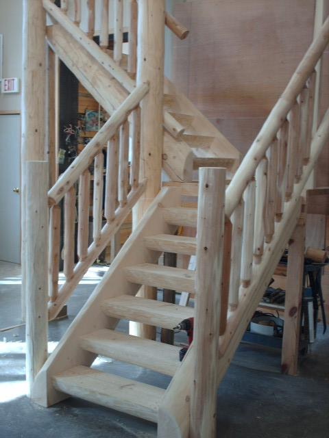 Mortise & Tenon Log Stair v5