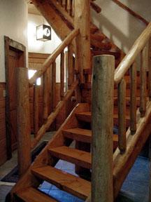 Mortise & Tenon Log Stair v2