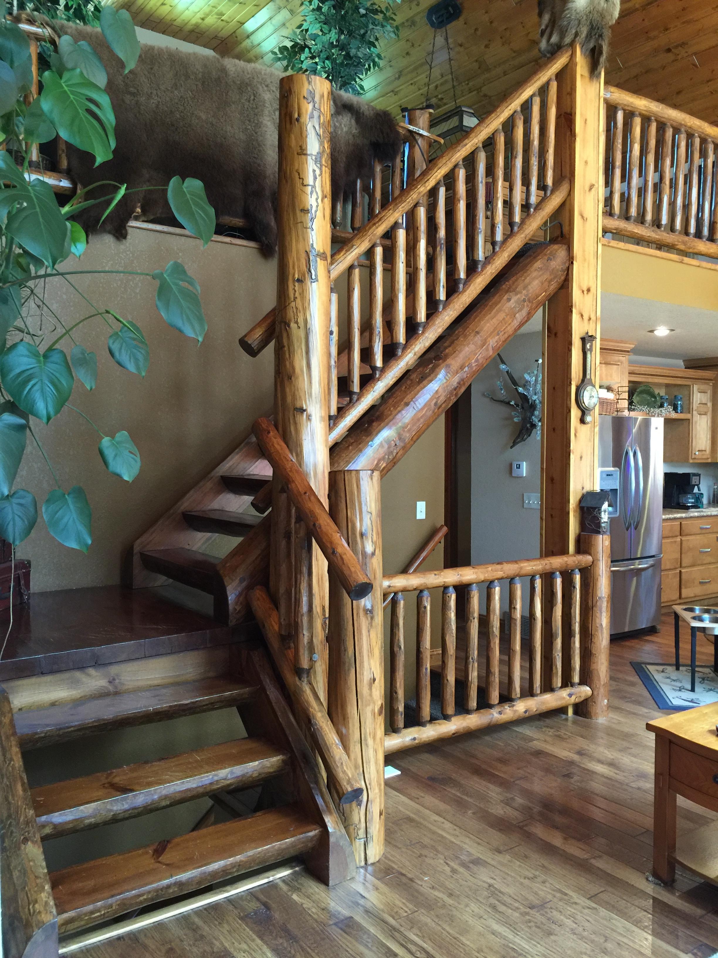 Mortise & Tenon Log Stair v4