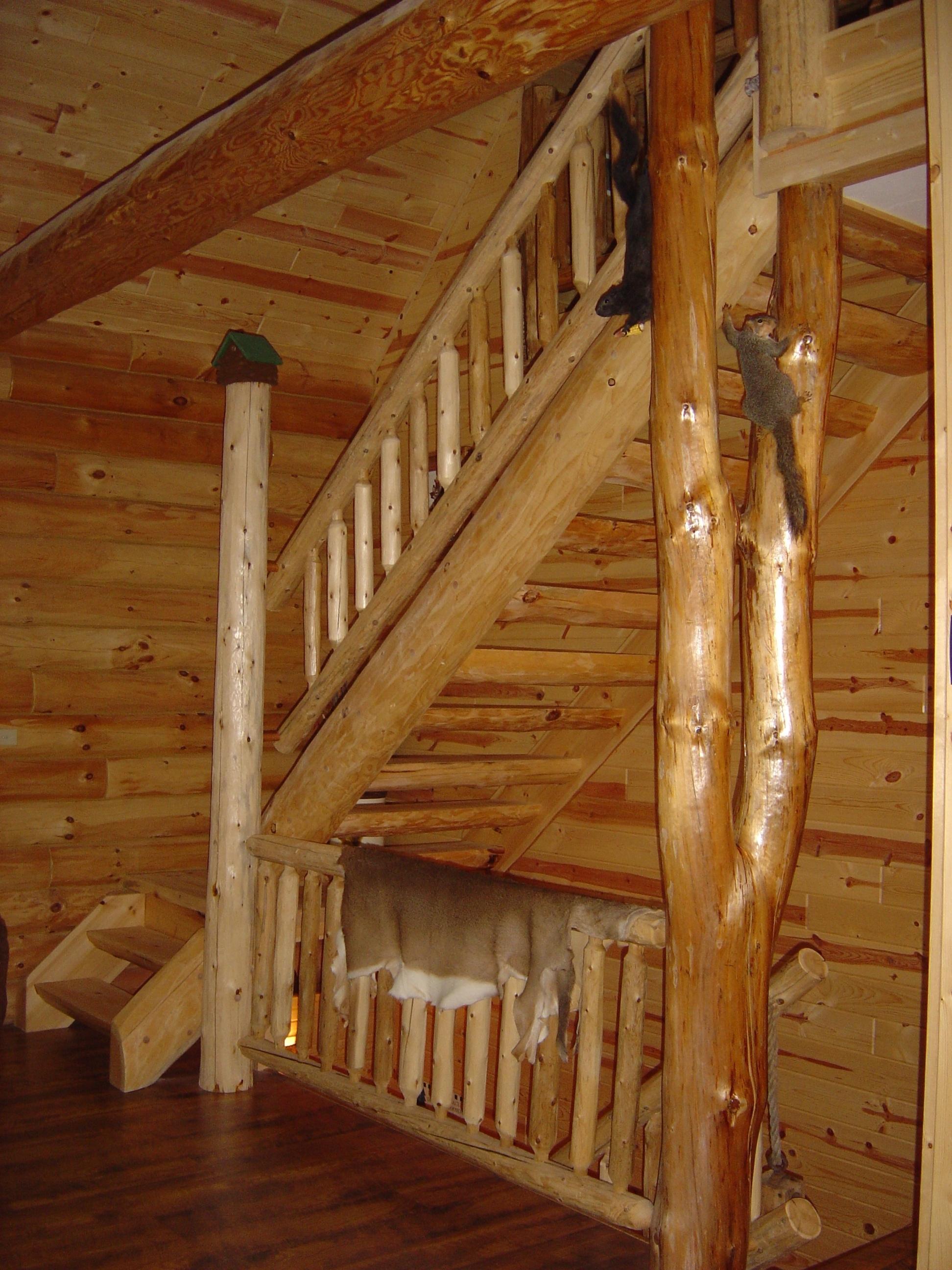Mortise & Tenon Log Stair v1