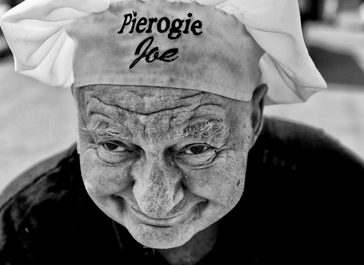 """""""Pierogi"""" Joe Stanavage, 82, at the annual Edwardsville Pierogie Festival in Edwardsville, Pa."""
