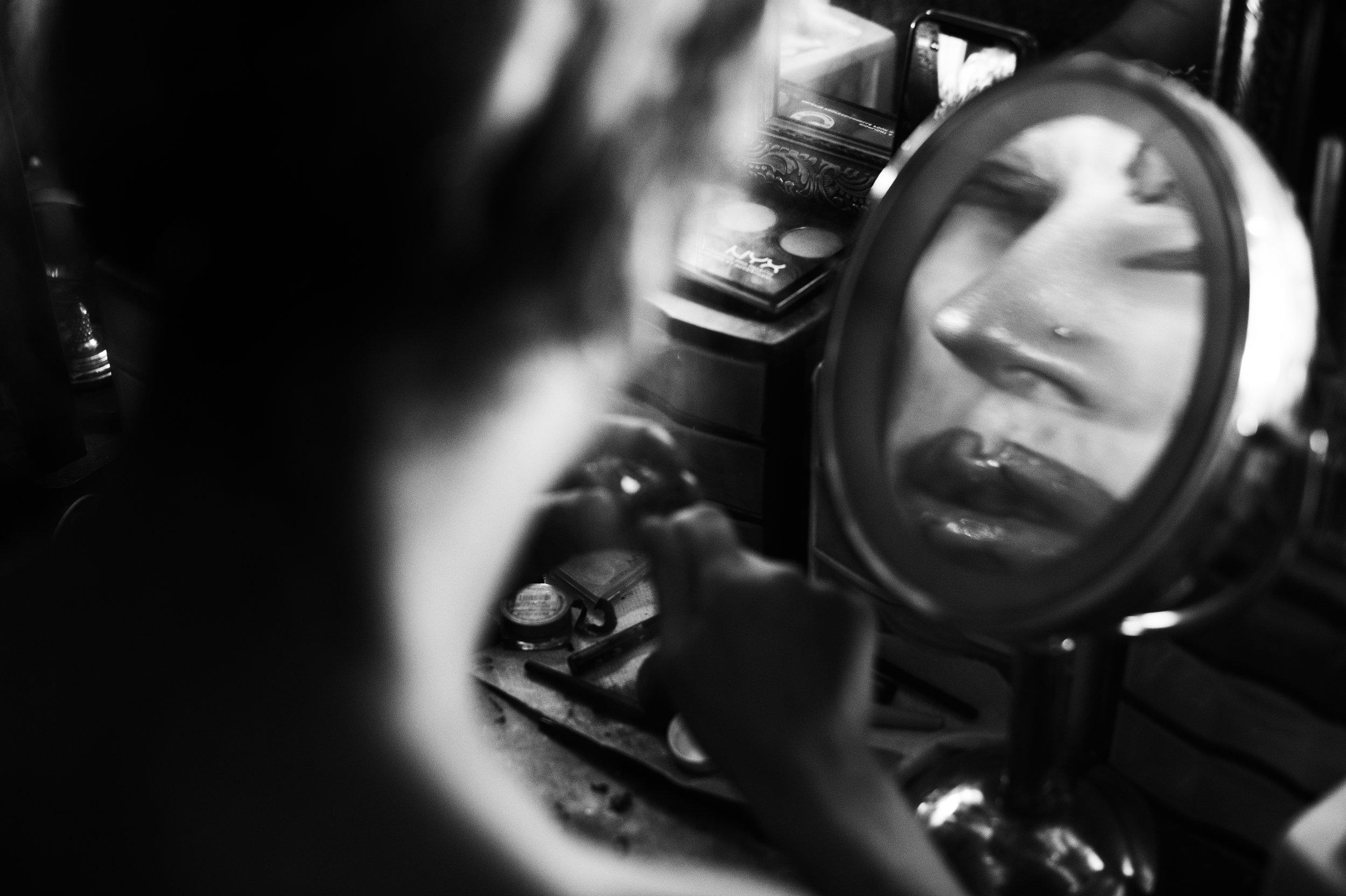 Drag queen reflection, Hanover Township, Pa.