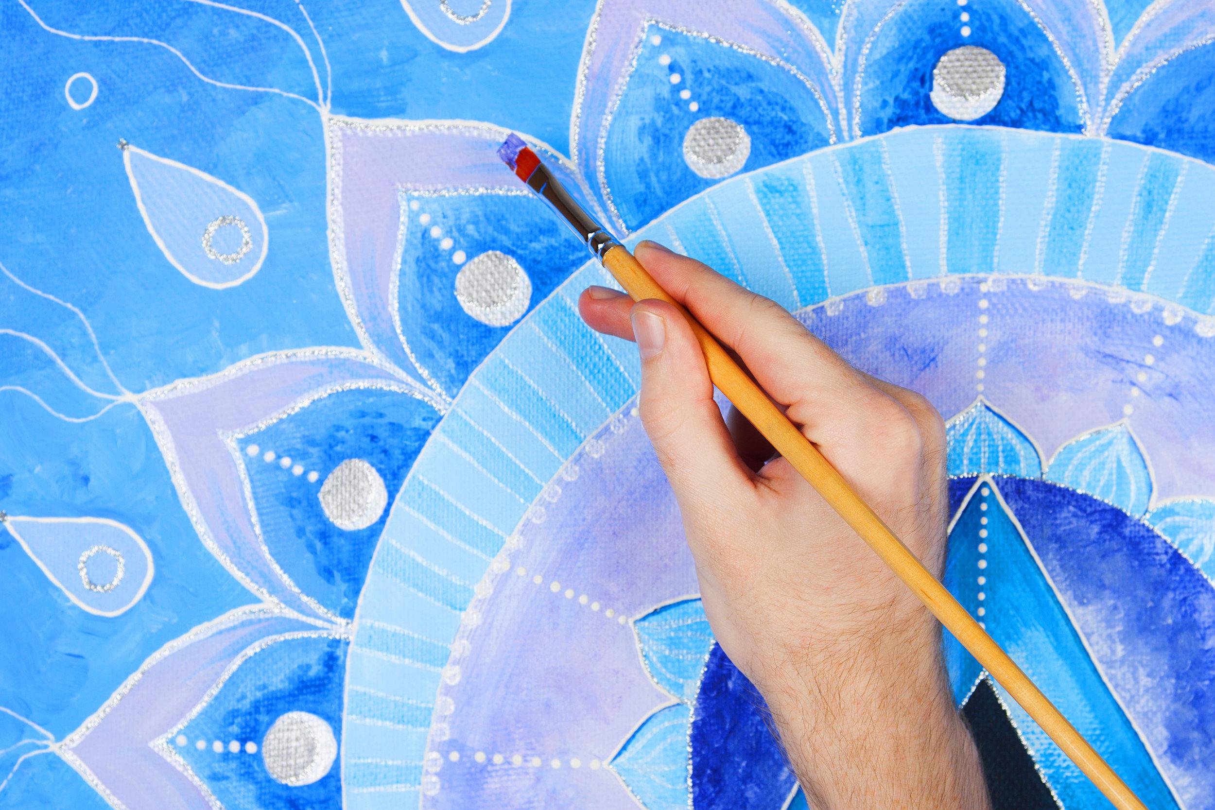 Mandala Painting and Art Journaling